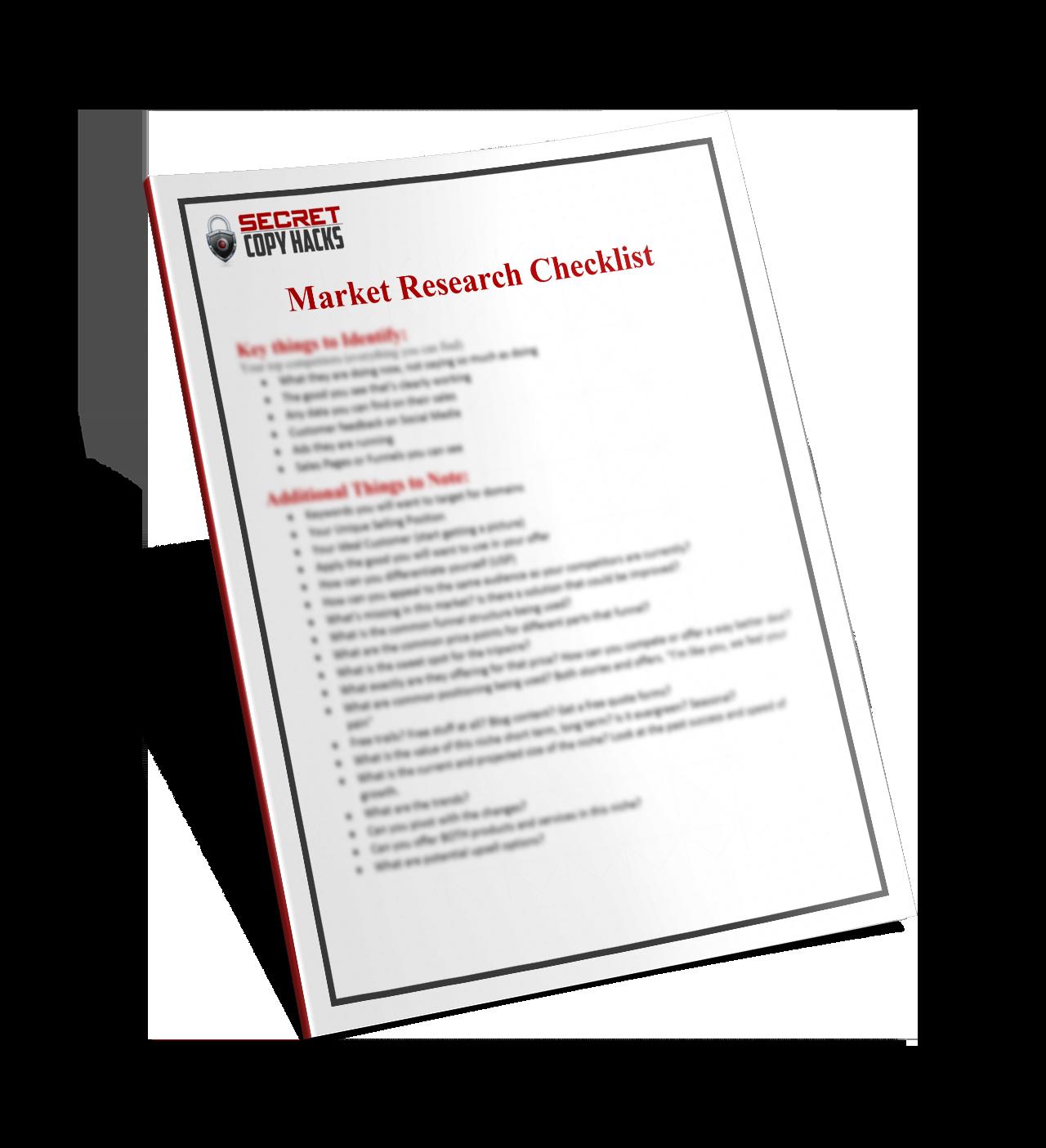 market-research-checklist
